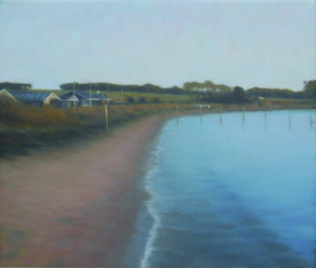 Beach with Summerhouses, 2007, oil on canvas, 30 x 35 cm