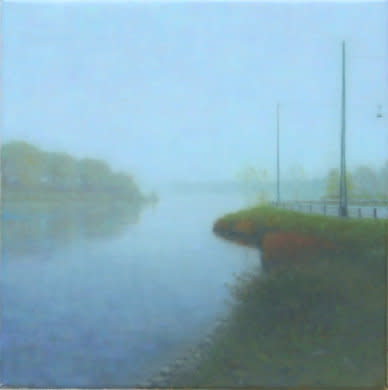 Christianshavns Vold, 2007, Oil on canvas, 30 x 30 cm