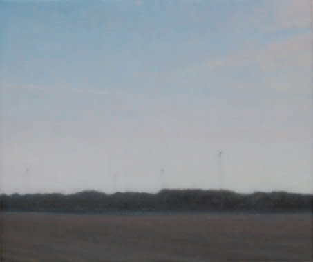 Football Pitch, 2007, Oil on canvas, 30 x 35 cm