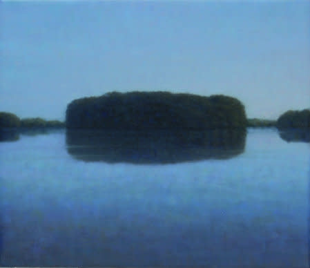 Island IV, 2007, Oil on canvas, 30 x 35 cm
