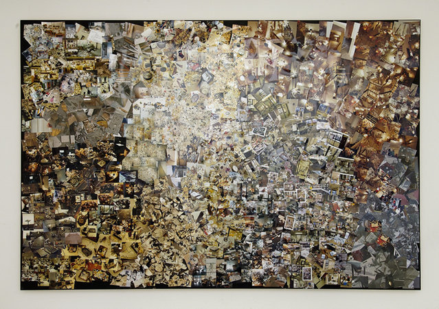 Abstract No. 1, 2007, photographs on salvaged panels, 240 x 360 cm