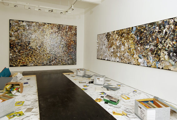 Leftover, installation view at Hales Gallery, London, 2007