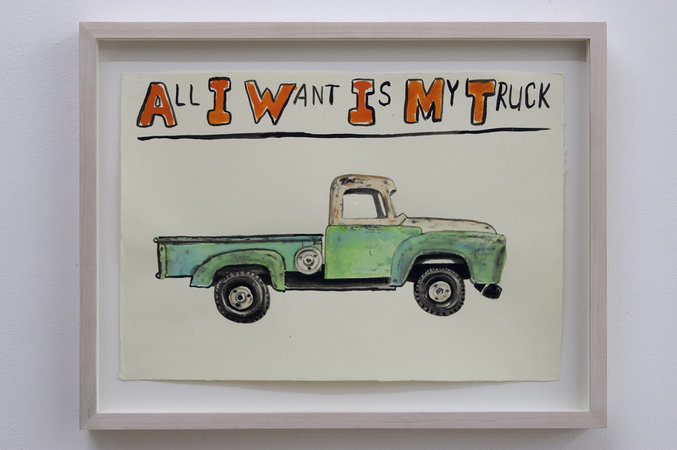 Jim Torok. All I want is my Truck, 2006. Watercolour and ink on paper 43 x 33 cm