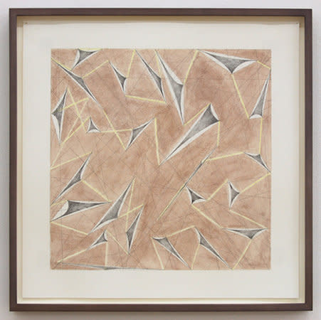 Field Stone drawing III, 2007, Graphite, coloured pencil and watercolour on paper, 43.5 x 43.5 cm