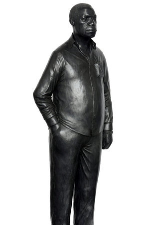<p>Tom Price, Man on a Horse (Kings Avenue), 2011, bronze, perspex and wooden base 168 x 36 cm</p>