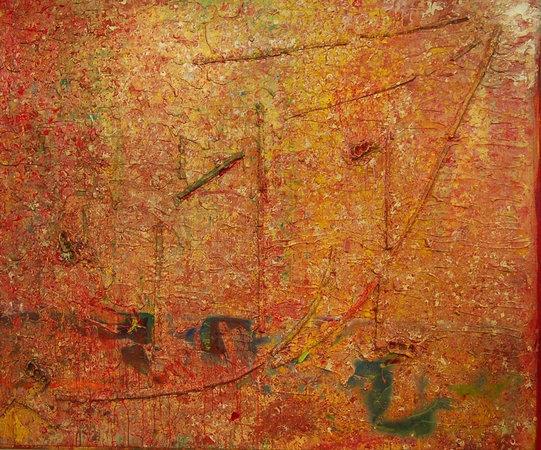 <p>Frank Bowling, Enter The Dragon, 1984, Acrylic on canvas, 230 x 286 cm</p>