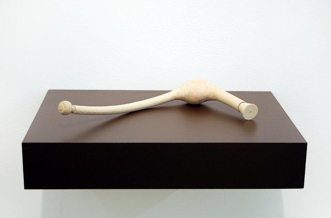 Jane Wilbraham, Blockage, 2010, sycamore, 35x16x5cm