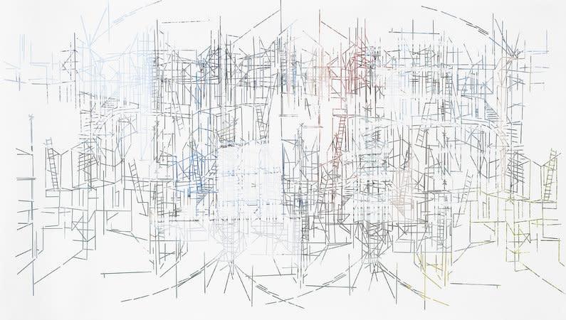 <p>Stem II (Span), 2011 peeled photograph 80 x 142 cm</p>