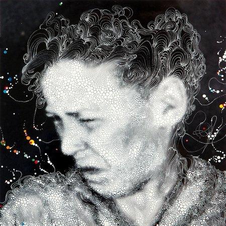Egmont 3 Hij Spuwt het Vieze Uit,, 2011, Unique hand-printed chromogenic print with mixed media 32 x 32 cm
