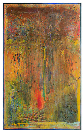 Greenborders, 2011, Acrylic on canvas, 304.8 x 190.5 cm