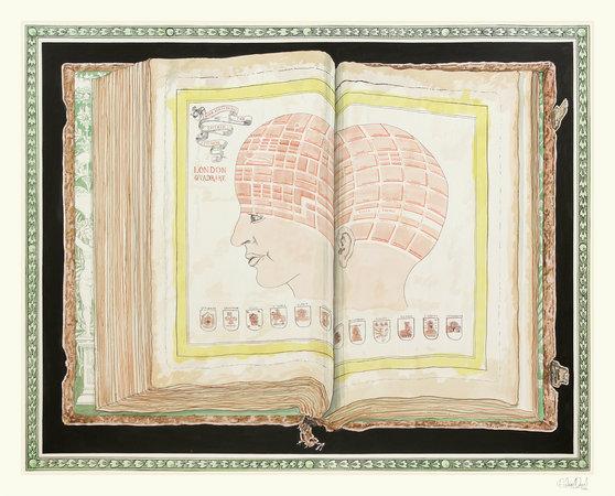 <p>Phrenological Squares, 2012, Ink on paper, 181x236cm</p>