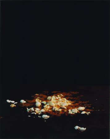 Baby blue (graveside), 2007, C-type print, 134 x 106 cms
