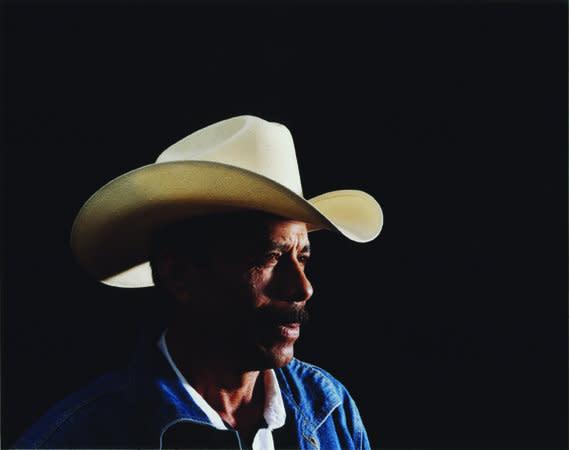 Marcelino Aleman Pena (cream hat, white shirt, jean jacket), 2007, C-type print, 62 x 79 cm