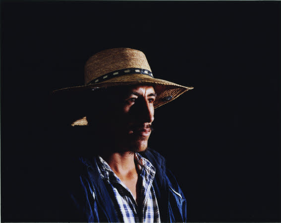 Mario Alonzo (checked shirt with banded straw hat), 2007, C-type print, 62 x 79 cm