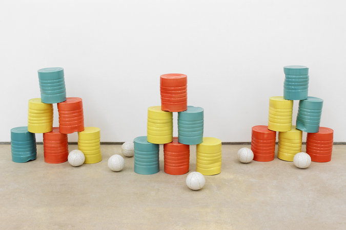 Richard Slee, Cans, 2013, ceramic dimensions variable