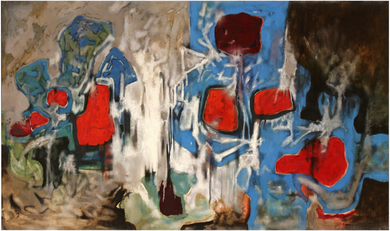 Shostakovich 14th Symphony, Opus 135, 1981, oil on canvas, 153 x 274 cm