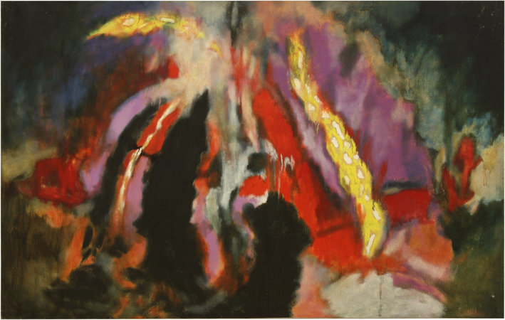 Shostakovich 6th Quartet, Opus 101, 1981, oil on canvas, 132.1 x 208.3 cm