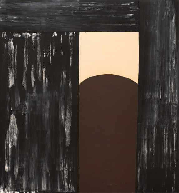 Basil Beattie Betwixt and Between, 1998 oil and wax on canvas 213 x 198 cm 83 7/8 x 78 in