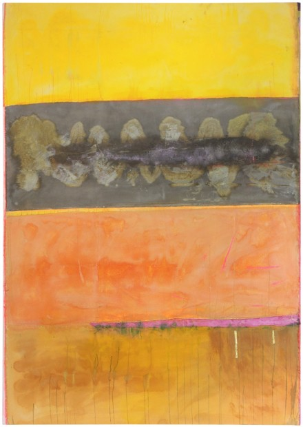 Frank Bowling, Across the Wadi, 2014, acrylic on canvas, 263 x 185 cm