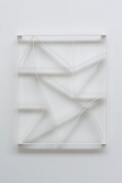 Daniel Robert Hunziker, KALK_16 III, 2016, powdercoated steel, 140 X 110 cm