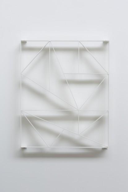 Daniel Robert Hunziker, KALK_16 IV, 2016, powdercoated steel, 115 X 95 cm
