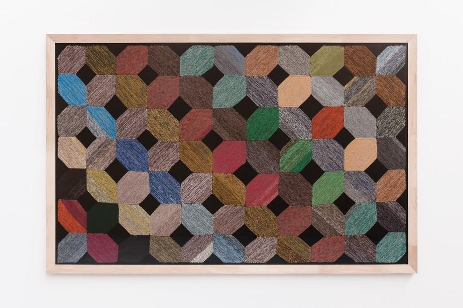 Daniel Robert Hunziker, Patch, 2014, object trouvé, 181 x 280 cm