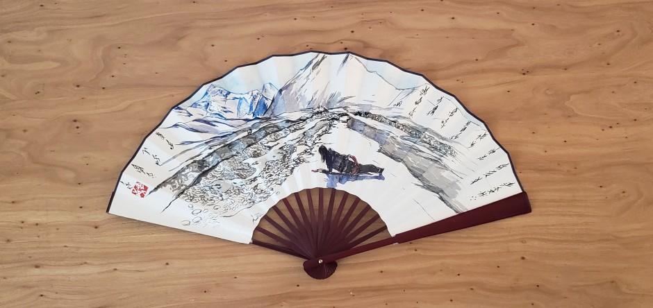 Tao Aimin 陶艾民,Secret Fan: Snow Lotus 秘扇: 雪莲, 2019