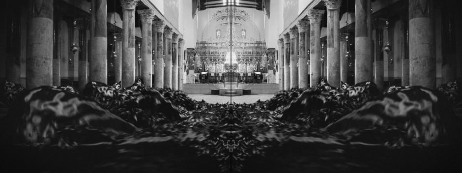 Larissa Sansour/Søren Lind Bethlehem 1, 2019 C-print 60 x 160 cm 23 5/8 x 63 in Edition of 6 plus 3 artist's proofs