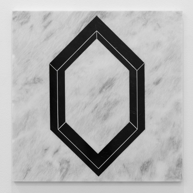 Hamra Abbas Open Cube: After LeWitt 4, 2019 Marble 61 x 61 cm 24 x 24 in