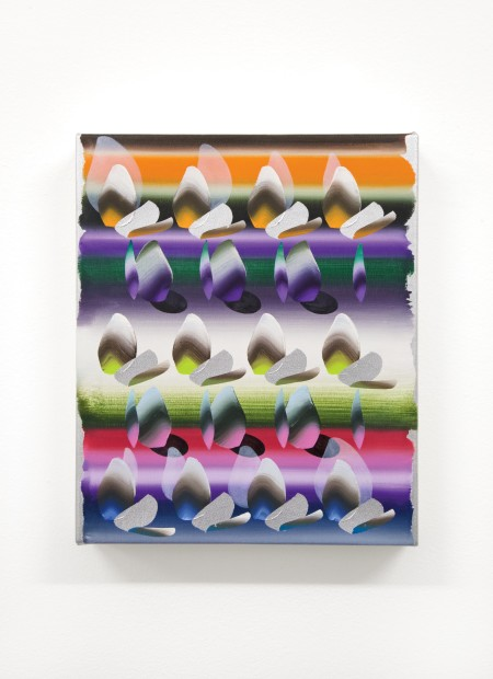 Vivien Zhang Untitled, 2020 Oil and spray paint on canvas 30 x 25 cm 11 3/4 x 9 7/8 in
