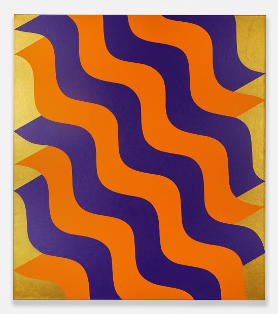 Mohamed Melehi Moucharabieh, Purple and Orange, 2020 Acrylic on canvas, 170 x 150 cm