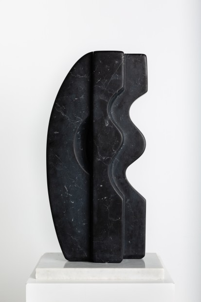 Mona Saudi Rivers of Sadness, 2004 Black Marble 61 x 28 x 13 cm