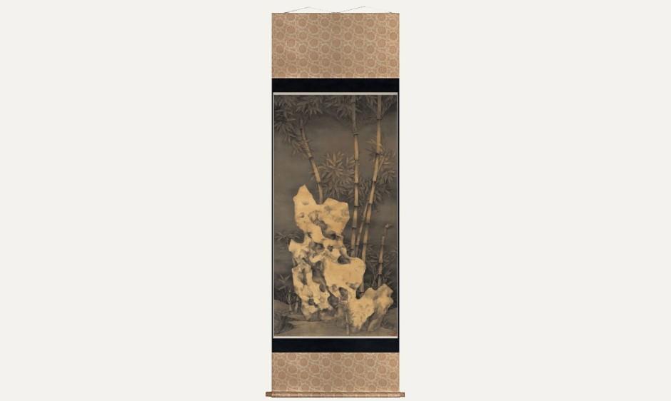 Rock in Moonlight III - Rock and Bamboo , 2014