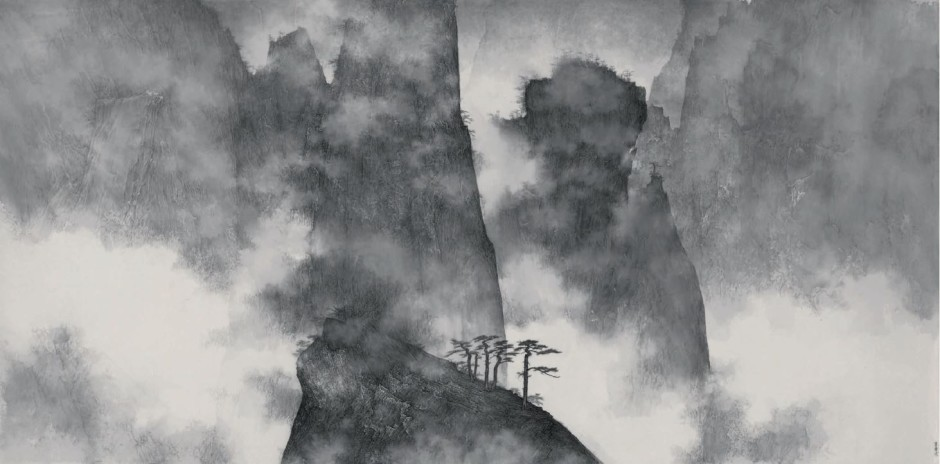 Mountains Hidden in Clouds and Mist, 2008