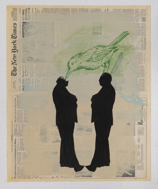 New York Times, Saturday, August 19, 1996, 1996 Mixed Media on Newsprint 68 x 56 cm. / 26.8 x 22 in.