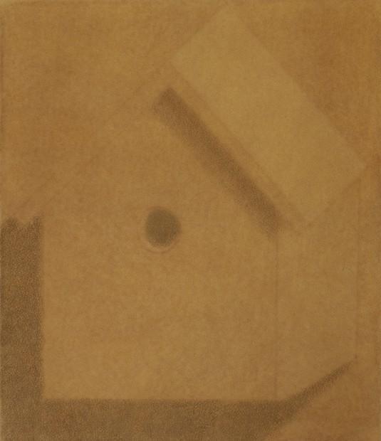 Johnny Izatt Lowry A birdhouse, 2020 Pigments and pastel on crepe 35 x 30 cm. / 14 x 12 in. Copyright Johnny Izatt-Lowry. Courtesy Cooke Latham Gallery