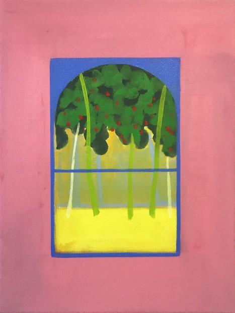 Cara Nahaul Imagined Window 3, 2020 Oil on canvas 40 x 30 cm. / 16 x 12 in.