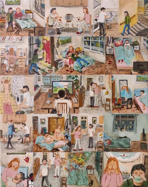 Stipan Tadic Life in Klajićeva, 2020 Oil on canvas 30 x 24 cm. / 12 x 9.5 in.
