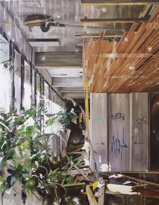 "<div class=""artist""><strong>Ross M. Brown</strong></div> <div class=""title""><em>St Peter's Seminary - Merge</em>, 2011</div> <div class=""signed_and_dated"">Signed & Dated 2011</div> <div class=""medium"">Oil on Canvas</div> <div class=""dimensions"">145 x 115 cm<br />57 x 45 1/4 in</div>"