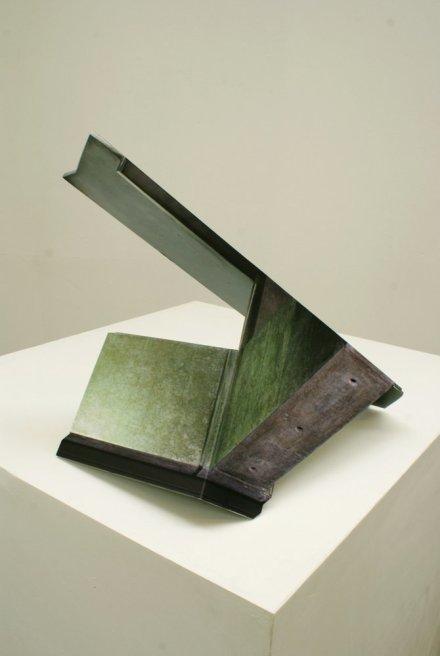"""<div class=""""artist""""><strong>Neil Ayling</strong></div> <div class=""""title""""><em>Emerald City II</em>, 2011</div> <div class=""""medium"""">Steel, vinyl print, matte 2k clear coat</div> <div class=""""dimensions"""">42 x 38 x 52cm</div>"""