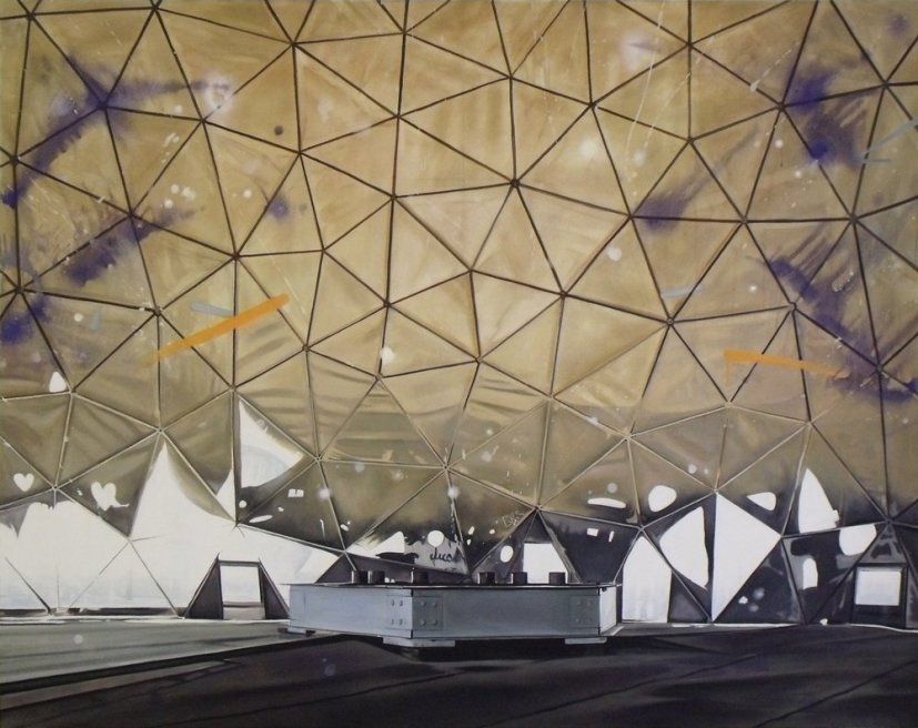 "<div class=""artist""><strong>Ross M. Brown</strong></div> <div class=""title""><em>Light Dome</em>, 2011</div> <div class=""medium"">Oil on canvas</div> <div class=""dimensions"">150 x 190 cm<br />59 1/8 x 74 3/4 in</div>"
