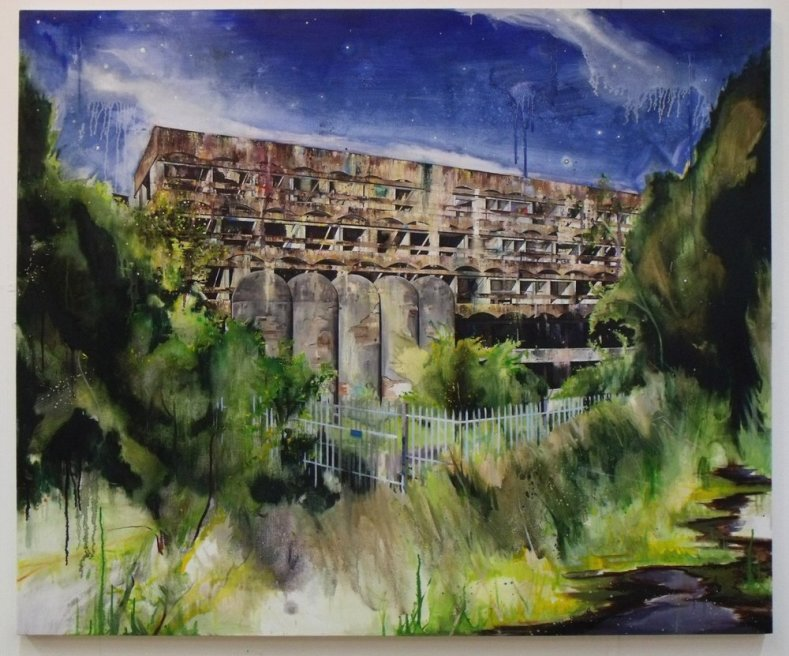 "<div class=""artist""><strong>Ross M. Brown</strong></div> <div class=""title""><em>St Peter's Seminary - Wilderness</em>, 2010</div> <div class=""signed_and_dated"">Signed & Dated 2010</div> <div class=""medium"">Oil on Canvas</div> <div class=""dimensions"">145 x 120 cm<br />57 x 47 1/4 in</div>"