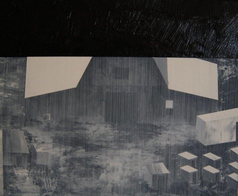 "<div class=""artist""><strong>Nicholas McLeod</strong></div> <div class=""title""><em>Study Of The Farm (Version 2)</em>, 2011</div> <div class=""medium"">Acrylic and oil on board</div> <div class=""dimensions"">30 x 36 cm<br />11 3/4 x 14 1/8 in</div>"