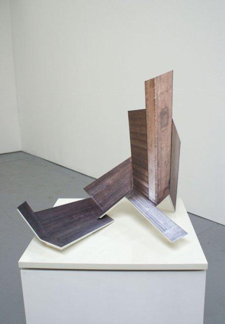 "<div class=""artist""><strong>Neil Ayling</strong></div> <div class=""title""><em>Cut and Fold I</em>, 2010</div> <div class=""signed_and_dated"">2010</div> <div class=""medium"">Steel, digital print on vinyl</div>"