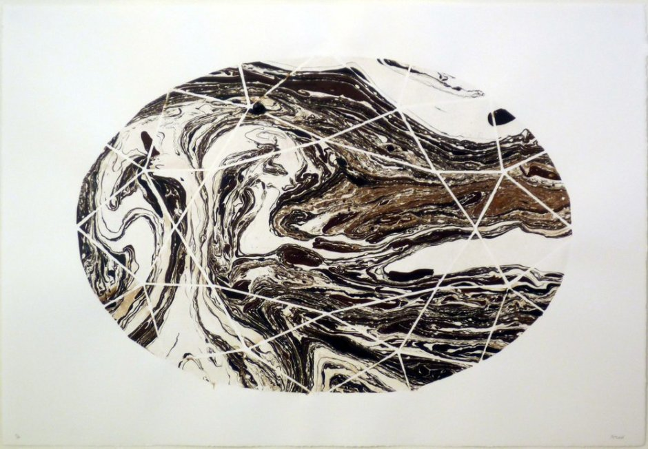 "<div class=""artist""><strong>Catalina Bauer</strong></div> <div class=""title""><em>Diamonds</em>, 2011</div> <div class=""medium"">Tar and water on paper</div> <div class=""dimensions"">112 x 76 cm<br />44 x 29 7/8 in</div>"