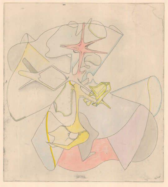 "<div class=""artist""><strong>Gemma Anderson</strong></div> <div class=""title""><em>Fano Varieties - Calabi-Yau Composite</em>, 2012</div> <div class=""medium"">Copper etching</div> <div class=""dimensions"">50 x 40 cm<br />19 3/4 x 15 3/4 in</div>"