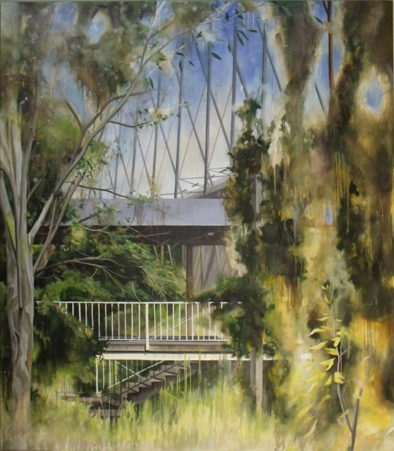 "<div class=""artist""><strong>Ross M. Brown</strong></div> <div class=""title""><em>Canopy</em>, 2013</div> <div class=""medium"">Oil on Canvas</div> <div class=""dimensions"">160 x 40 cm<br />63 x 15 3/4 in</div>"