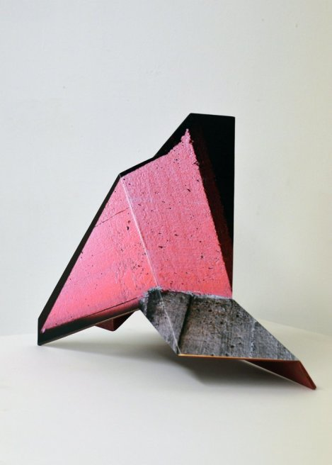 "<div class=""artist""><strong>Neil Ayling</strong></div> <div class=""title""><em>Concrete Candy</em>, 2013</div> <div class=""medium"">Printed Vinyl on Brass</div> <div class=""dimensions"">30 x 25 x 37 cm<br />11 3/4 x 9 7/8 x 14 5/8 in</div>"