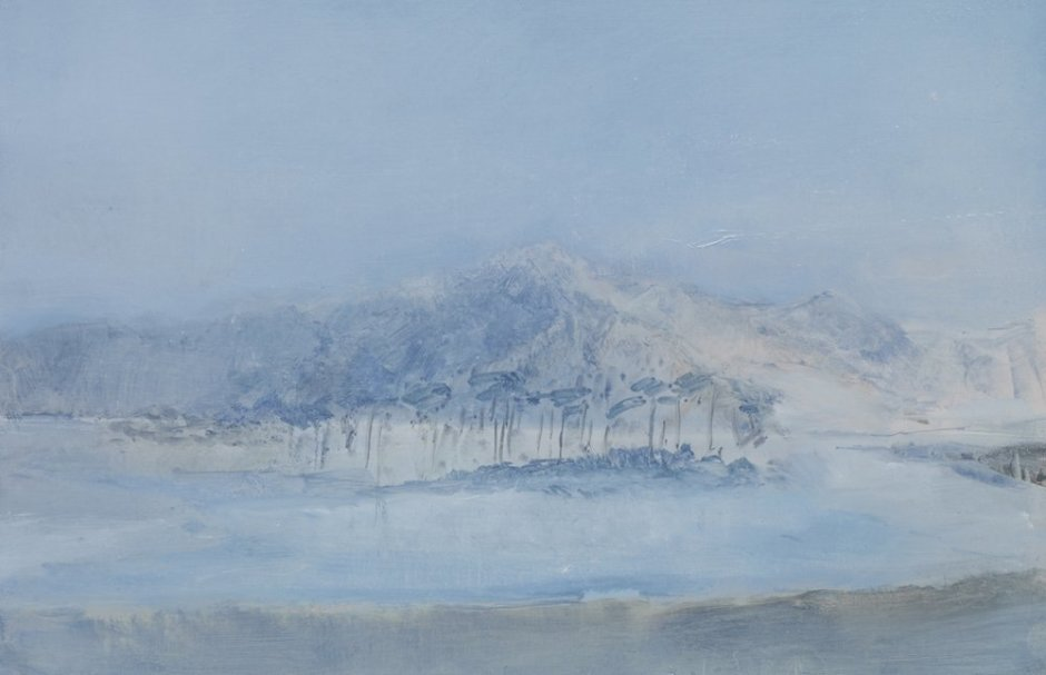 """<div class=""""artist""""><strong>Briony Anderson</strong></div> <div class=""""title""""><em>From Morning Mist</em>, 2012</div> <div class=""""medium"""">Oil on paper</div> <div class=""""dimensions"""">14.5 x 21 cm<br />5 3/4 x 8 1/4 in</div>"""