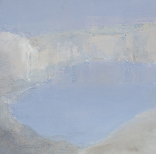 """<div class=""""artist""""><strong>Briony Anderson</strong></div> <div class=""""title""""><em>Stand-in for a Blue Pool</em>, 2012</div> <div class=""""medium"""">Oil on paper</div> <div class=""""dimensions"""">15 x 15 cm<br />5 7/8 x 5 7/8 in</div>"""